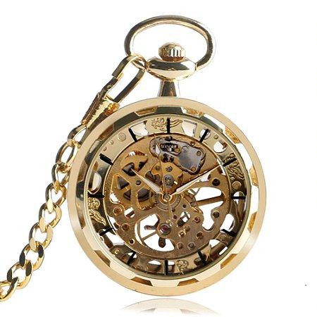 Relógio de Bolso de Ouro Mecânico
