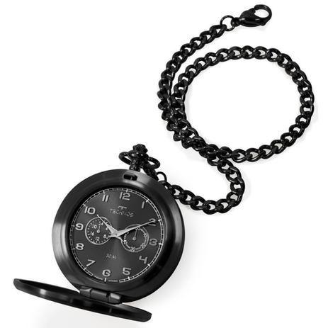 Relógio de Bolso Technos Preto VD77AB-4P