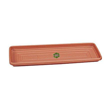 Prato para Vaso Retangular Plástico 17 x 48 Sanremo