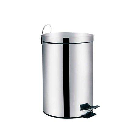 Lixeira em Aço Inox 20 litros Ágata Mor