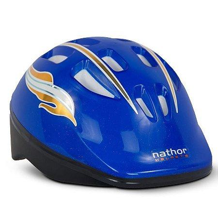 Capacete Infantil Bicicleta Azul Nathor