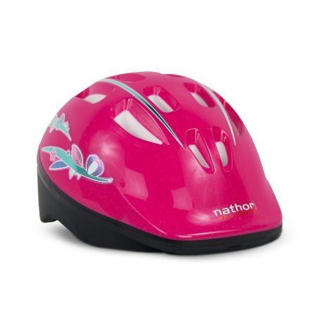 Capacete Infantil Bicicleta Rosa Nathor