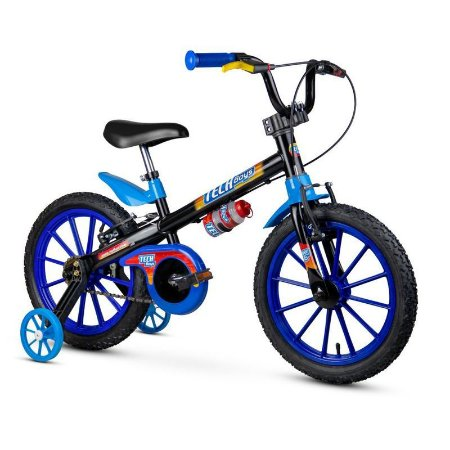 "Bicicleta Infantil Aro 16"" Azul Tech Boys  Nathor"