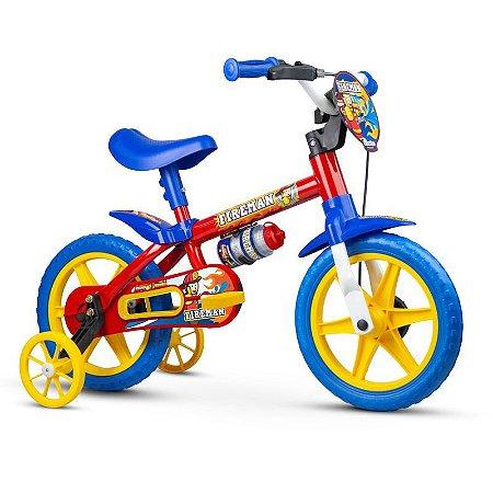 """Bicicleta Infantil Aro 12"""" Bombeiros Vermelho Nathor"""