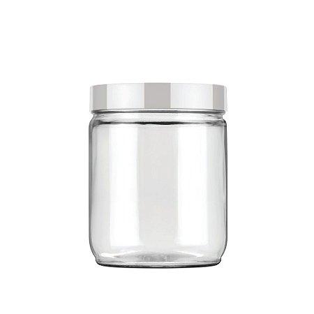 Pote de Vidro Liso 750ml Branco Invicta