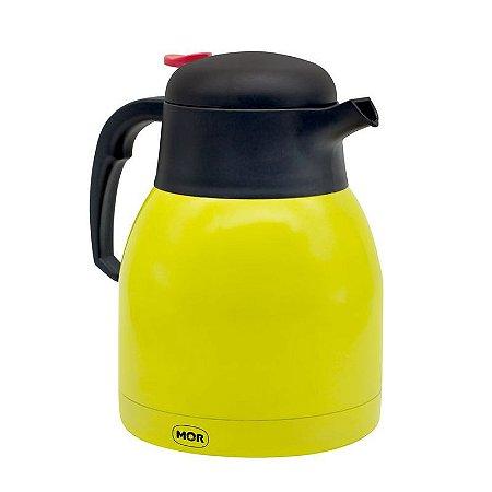 Bule Térmico Inox com Gatilho 1,2 litros Limão Trendy Mor