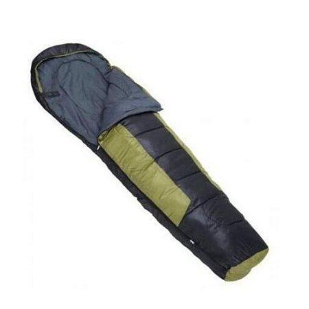 Saco de Dormir Preto e Verde Mummy -1°c a 8°c Nautika