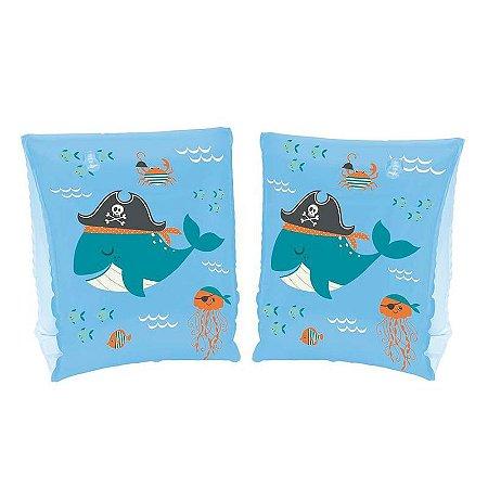 Boia Braço Infantil Baleia Azul Mor
