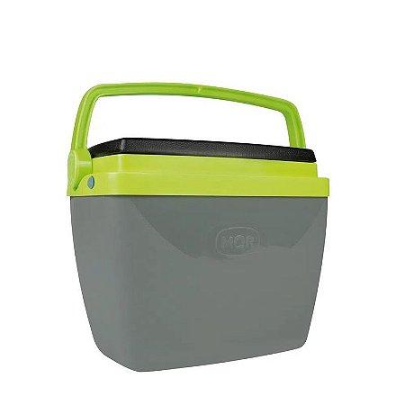 Caixa Térmica 6 litros Cinza e Verde Mor