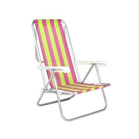 Cadeira de Praia Alta em Alumínio Listrado  - Belfix