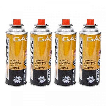 Cartucho de Gás Campgas 227g com 4 unidades Nautika