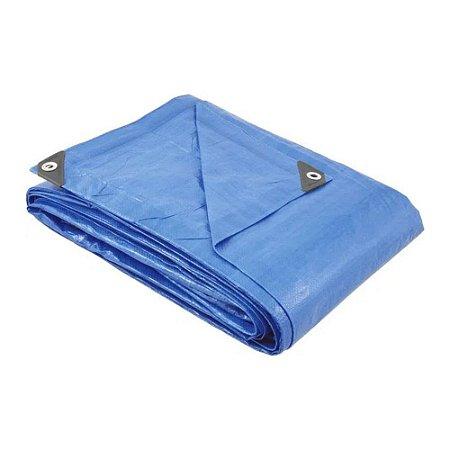 Lona Plástica Encerado 6x5 Azul Multiuso Impermeável Nove54