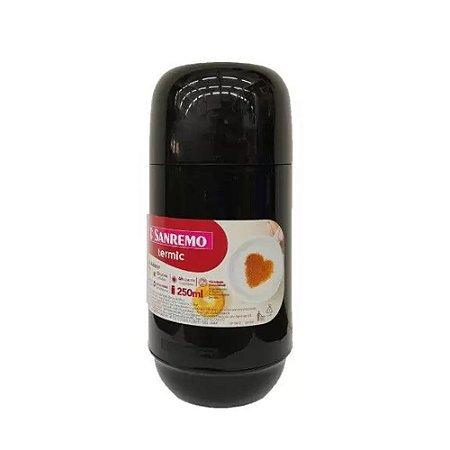 Garrafa Térmica Preta em Plástico Adorar 250ml Sanremo