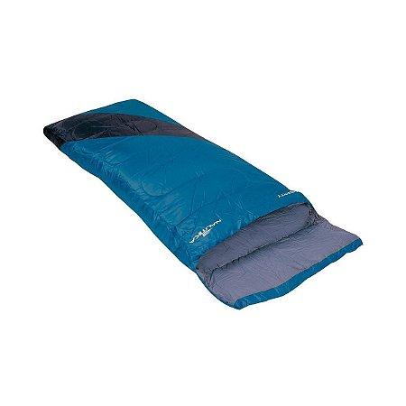 Saco de Dormir Liberty Preto e Azul 4°c a 10°c Nautika