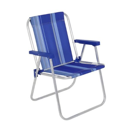 Cadeira de Praia Alumínio Reforçada até 110kg Alta Color Comfort Estampada Belfix