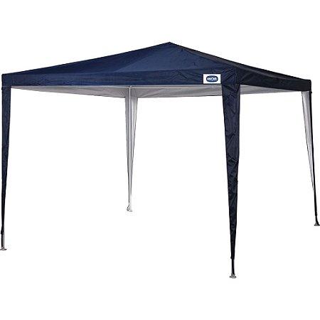 Tenda Gazebo 3x3 metros Poliéster Oxford Azul Mor