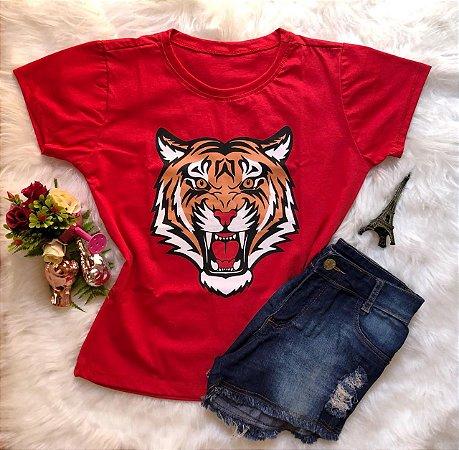 T-Shirt Tigre Vermelho
