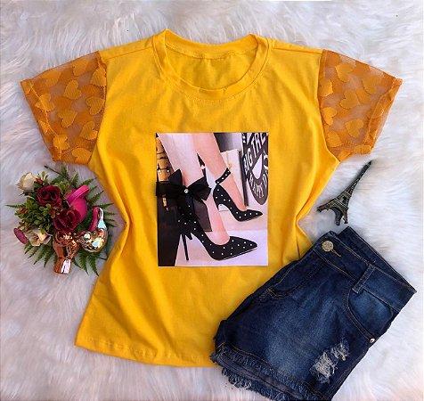 T-shirt Sapato Preto