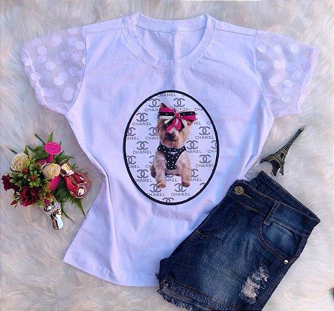 T-Shirt Cachorro Chanel