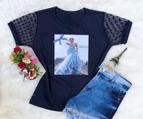 Tshirt Menina azul