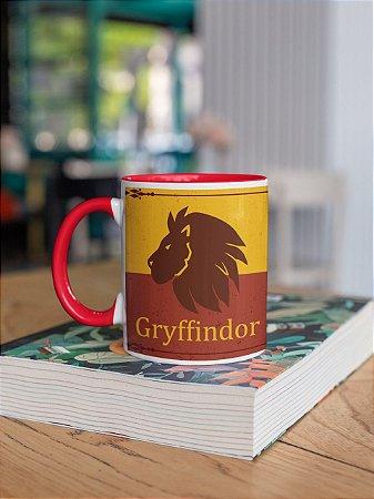Caneca alça e interior colorida Griffindor Quidditch team