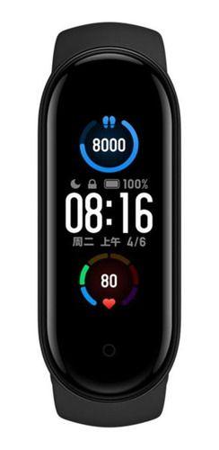 Xiaomi Mi Smart Band 5 1.1  Caixa De  Plástico Pc Pulseira  Black De  Elastômero Termoplástico E Liga De Alumínio Xmsh10