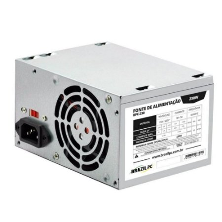 FONTE ATX 230W REAL BRAZILPC BPC-230V1.2 24 PINOS OEM