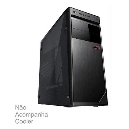 GABINETE BRAZILPC 1 BAIA 3602 BLACK (2XUSB/AUDIO/LATERAL DE ACRILICO) S/ FONTE BOX
