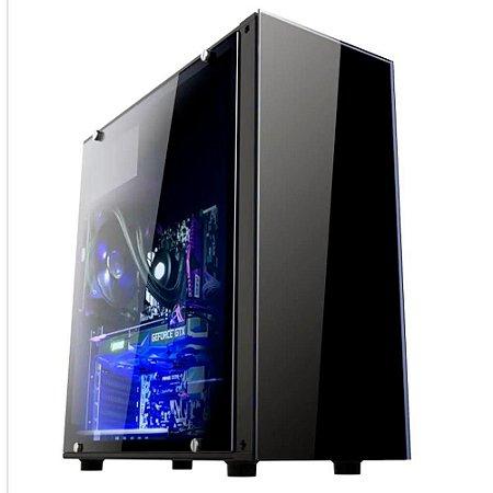 GAB. BRAZIL PC GAMER BPC-330ATX BLACK S/ FONTE/1XUSB3.0/2XUSB2.0/LATERAL ACRILICO BOX