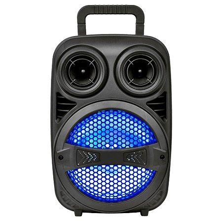 "CAIXA AMPLIFICADA 8"" TRONOS TRS-08-10P 180W C/ MICROFONE/BT/USB/MICRO-SD/FM/RGB BOX"