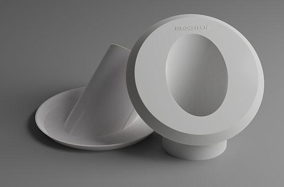 45AML-50  Acabamento estético com inclinação de 45° para ser encaixado  no tubo de esgoto com diâmetro de 50mm presente no ponto de despejo de água da máquina de lavar roupa, tanquinho e secadora de roupa