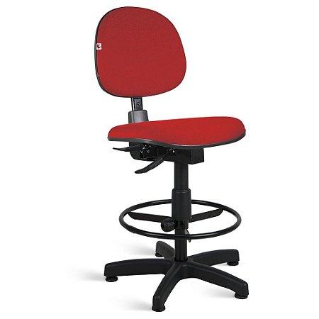 Cadeira Caixa Executiva Back System Tecido Vermelho