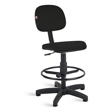 Cadeira Caixa Secretária Tecido Preto