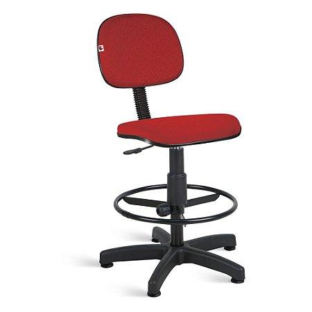 Cadeira Caixa Secretária Tecido Vermelho