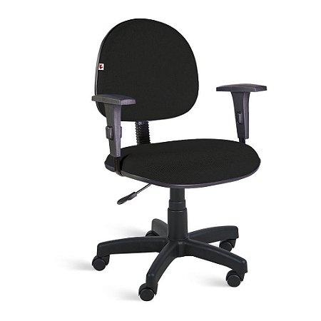 Cadeira Executiva Giratória Braços Tecido Preto
