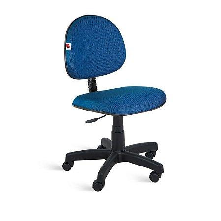 Cadeira Executiva Giratória Tecido Azul Com Preto