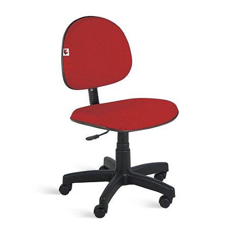 Cadeira Executiva Giratória Tecido Vermelho