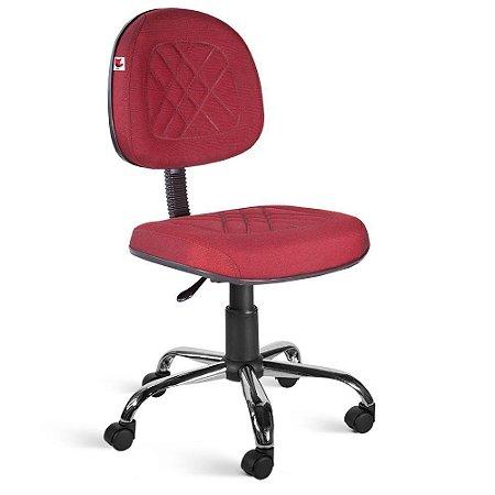 Cadeira Executiva Giratória Tecido Vermelho Telúrio
