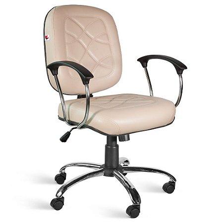 Cadeira Diretor Relax Braços Couríssimo Bege Turmalina