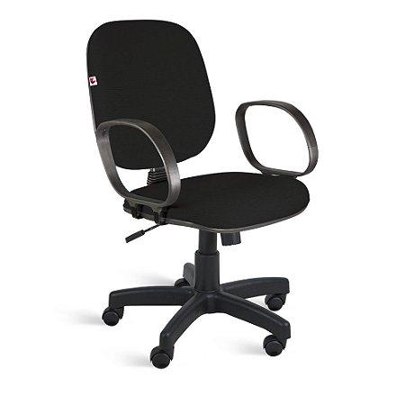 Cadeira Diretor Relax Braços Tecido Preto