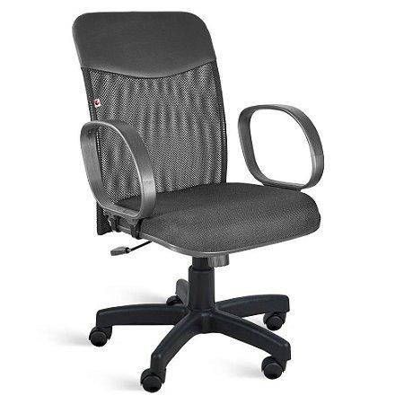 Cadeira Diretor Relax Braços Tecido Preto Mercúrio