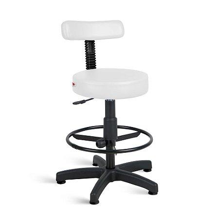 Cadeira Mocho Alto Estética Giratória Com Sapatas fixa