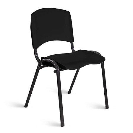 Cadeira Plástica Fixa A/E Preto Lara