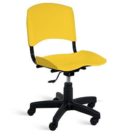 Cadeira Plástica Giratória A/E Amarelo Lara