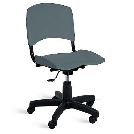 Cadeira Plástica Giratória A/E Cinza Lara
