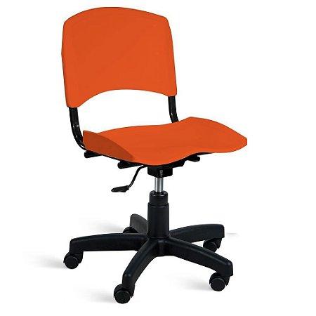 Cadeira Plástica Giratória A/E Laranja Lara