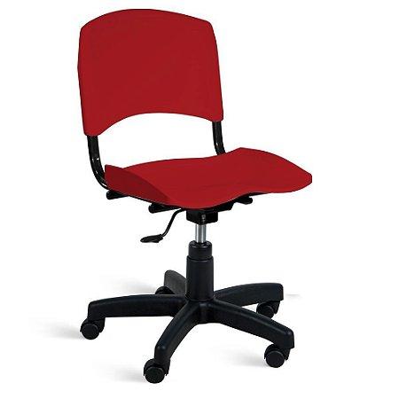 Cadeira Plástica Giratória A/E Vermelho Lara