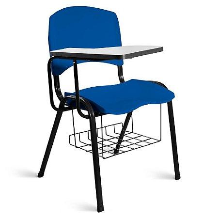 Cadeira Plástica Universitária A/E Azul Lara