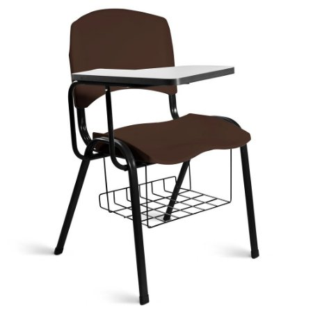 Cadeira Plástica Universitária A/E Marrom Lara