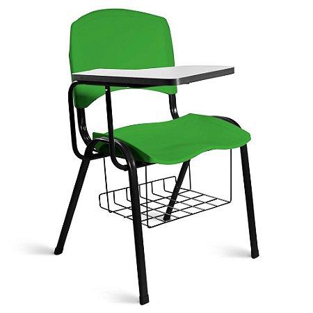 Cadeira Plástica Universitária A/E Verde Lara